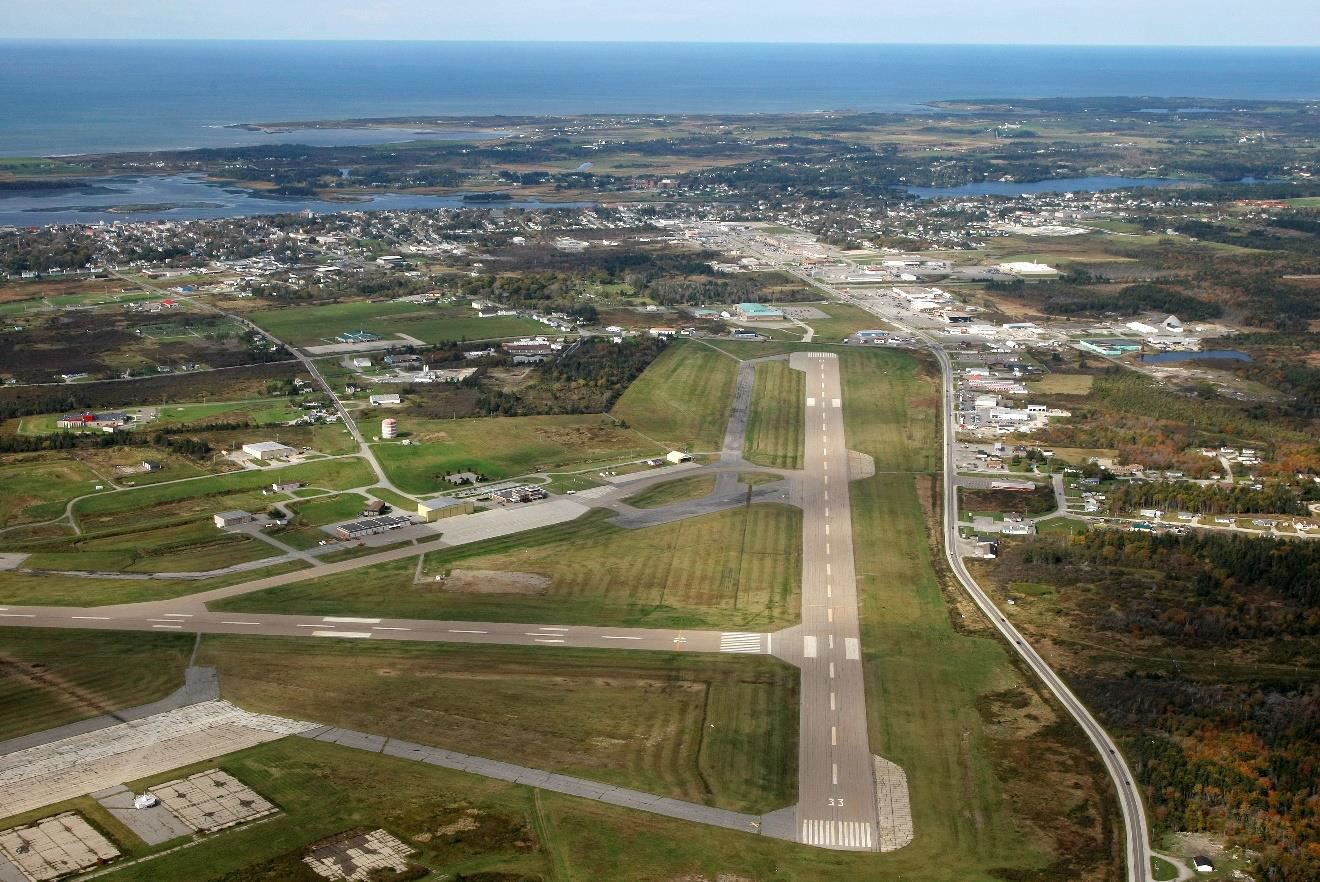 Yarmouth Airport aerial